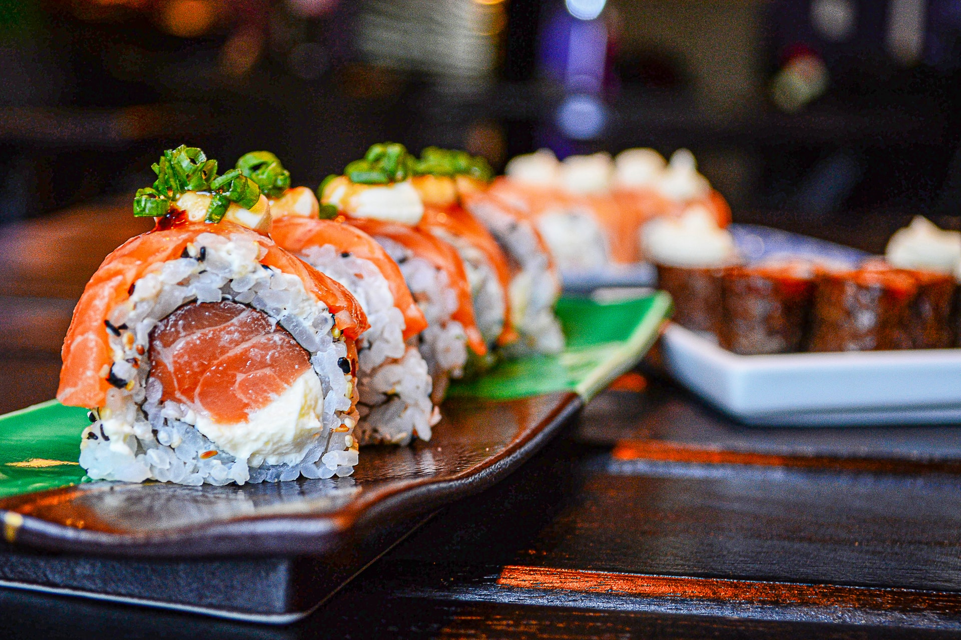 Sushi slices